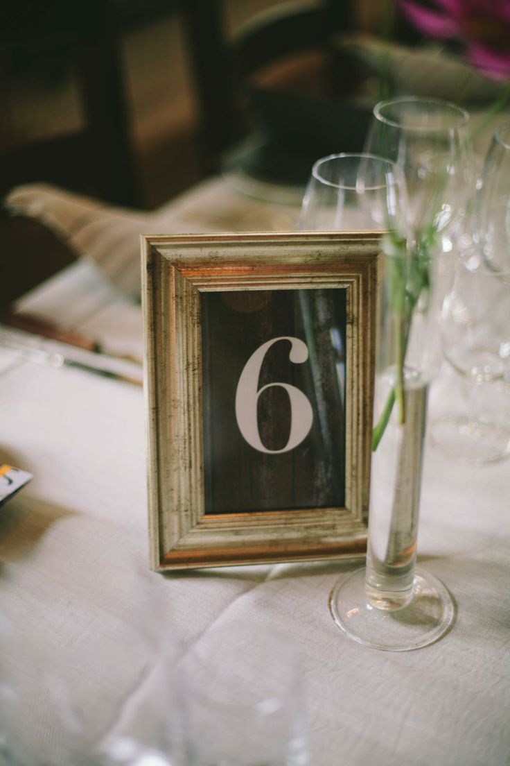 Wedding table decoration, Table numbers, wedding signage, vintage wedding table decoration. Old frames for weddings.