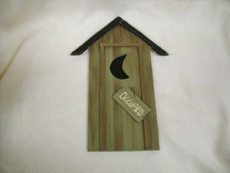 Nature calls reversable occupied wooden for Bathroom occupied sign