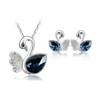 Set bijuterii cu Swarovski Elegant Swan
