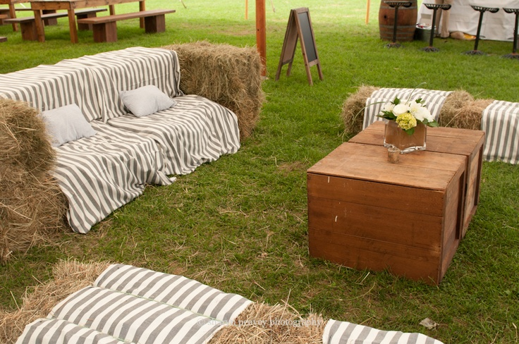 Hay Bale Lounge Seating  Sharyn Peavey Photography