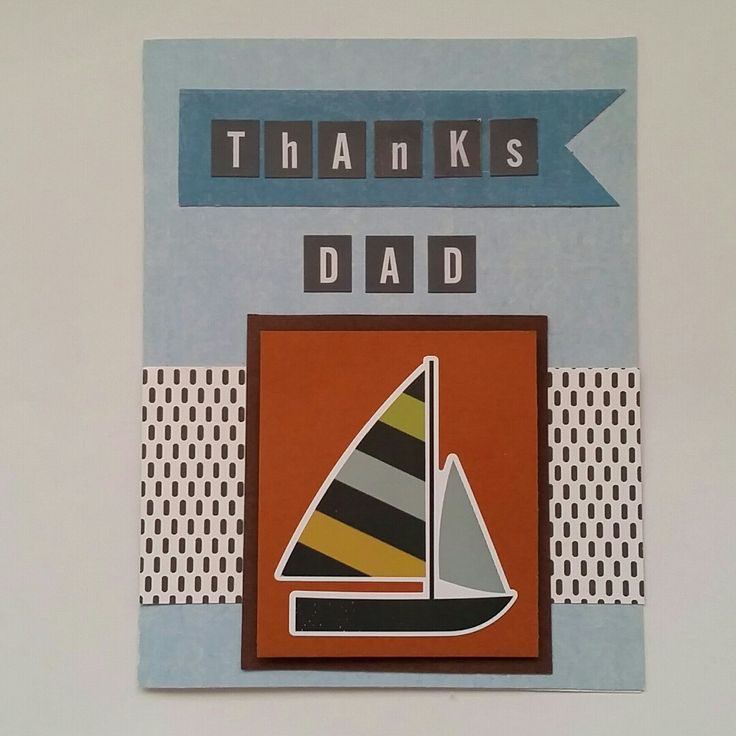 I just made this cute Father's Day card using the boat sticker from the Echo Park, Boy's Rule collection.  So much included in this one sheet of cardstock weight stickers.