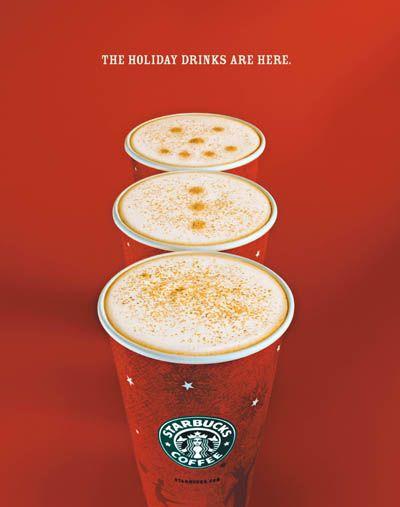 Starbucks holiday drinks repinned by www.BlickeDeeler.de