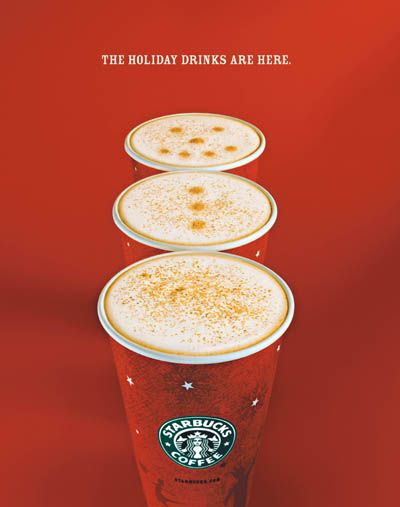 Starbucks holiday drinks repinned by www.BlickeDeeler.de