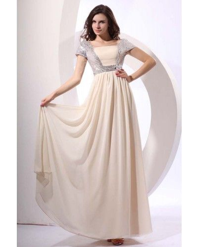 Chiffon Long Vintage Prom Dress with Sleeves | LynnBridal.com