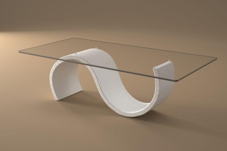 Articolo 416-4     Tavolino da salotto Crono - Finitura: bianco opaco.Misure: cm 110 x 65  - Altezza: cm 38 - Peso: Kg. 42 - Vetro: rettangolare -  temperato - extrawhite - filo lucido - spessore 1 cm