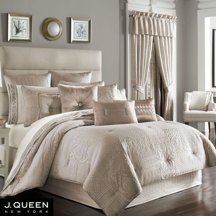 Wilmington Beige Comforter Bedding by J Queen New York