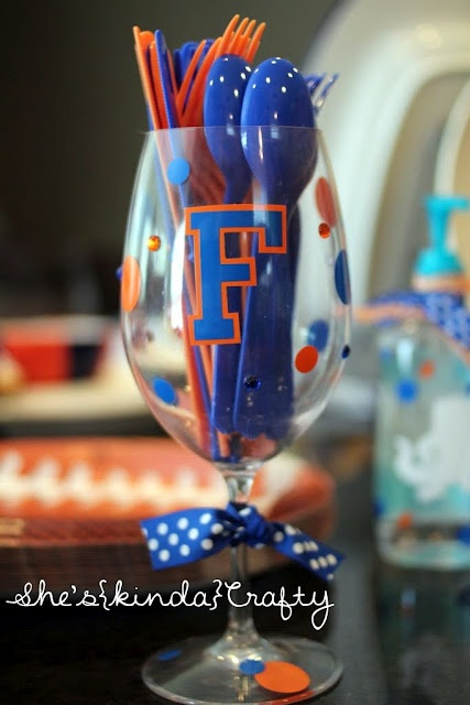 Football Kick Off ideas. The right colors! Just change the Gators to AUBURN!