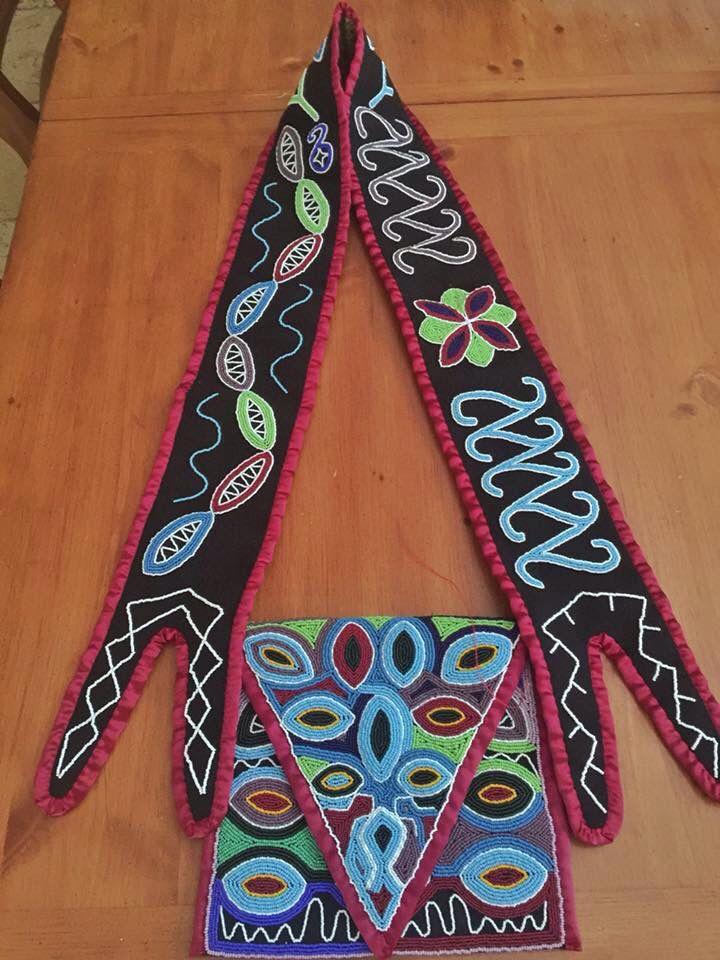 Seminole Bandolier Bag made by Brian M. Zepeda, Seminole Tribe of Florida