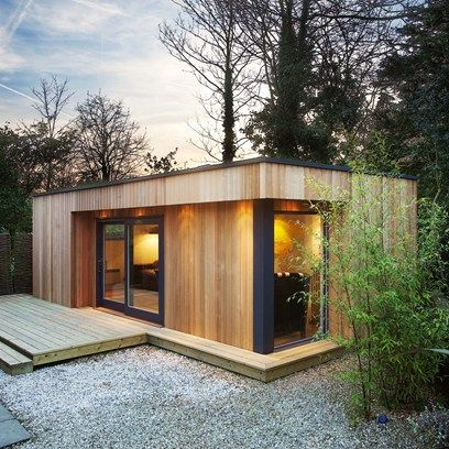 What is it about garden rooms that is so universally appealing? We're getting excited just thinking about the prospect of a seclude little spot somewhere, like this stable conversion in Kenya, that is wooden eco garden room with a green roof.