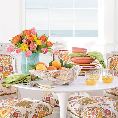 Fresh and summery table   Coastalliving.com