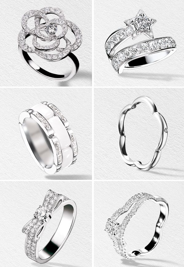 Chanel engagement rings<3! The bow and flower are my favorite<3 one day<3