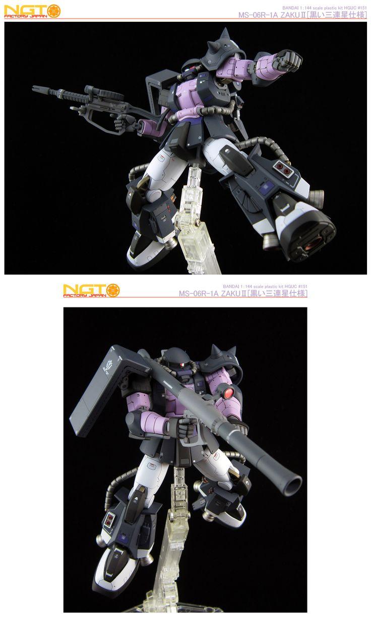 1/144 HGUC MS-06R-1A 高機動型ザク[黒い三連星仕様] 改修塗装済完成品
