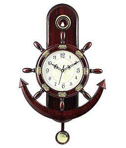 Amazon- Buy Altra Plastic Pendulum Wall Clock (45 cm x 30 cm x 5 cm Brown) for Rs 374