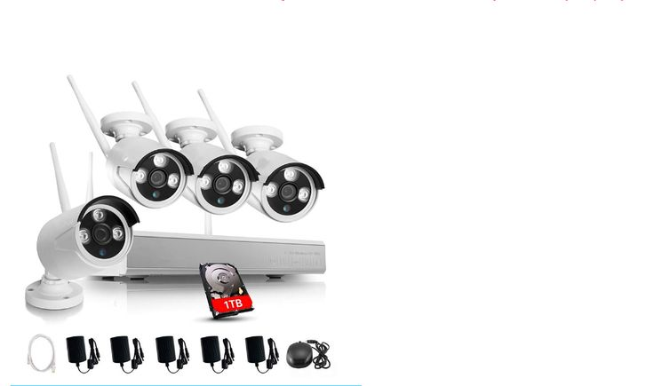 Wi-Fi security camera systems with Starlight technology.(Lights up the area the camera is viewing when activated) Allowing for better images and clearer viewing & descriptions of people or things.