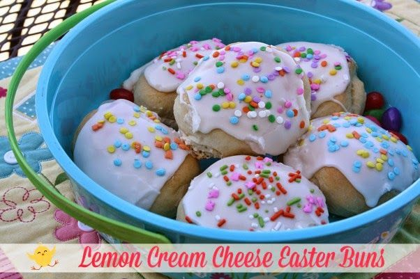Mommy's Kitchen - Home Cooking & Family Friendly Recipes: Lemon Cream Cheese Easter Buns