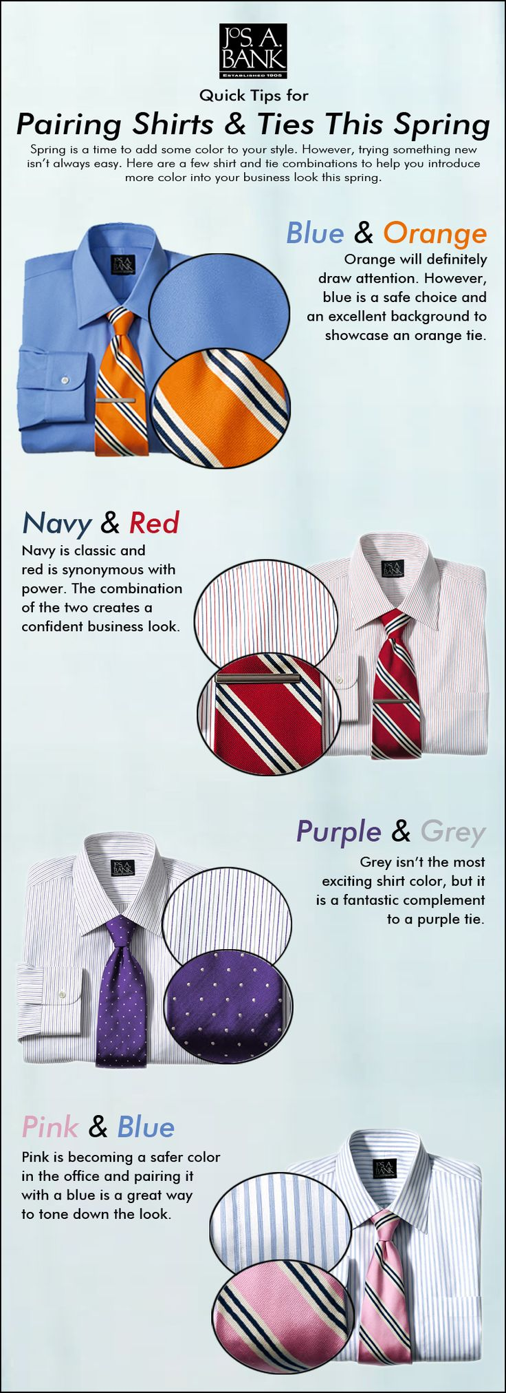 A few ideas to help you add color #tipographic #menstyle #infographic #menswear
