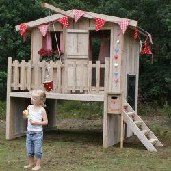 Leuk speelhuisje voor in de tuin voor kinderen. PuurBasic.nl