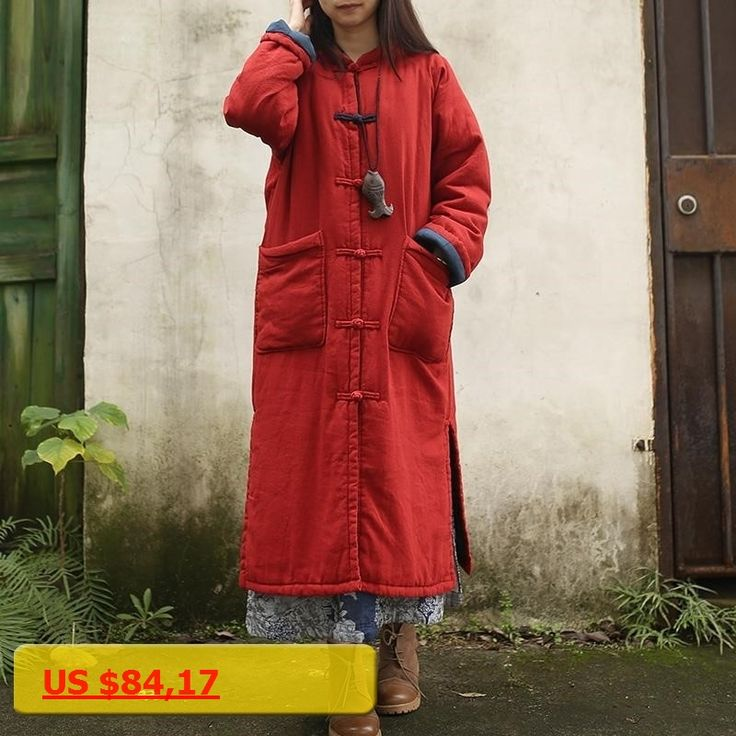 Sacos Mujer Invierno 2017 Parkas For Women Winter Jacket Warm Overcoat Cotton-padded Chinese Traditional Jacket Manteau Femme
