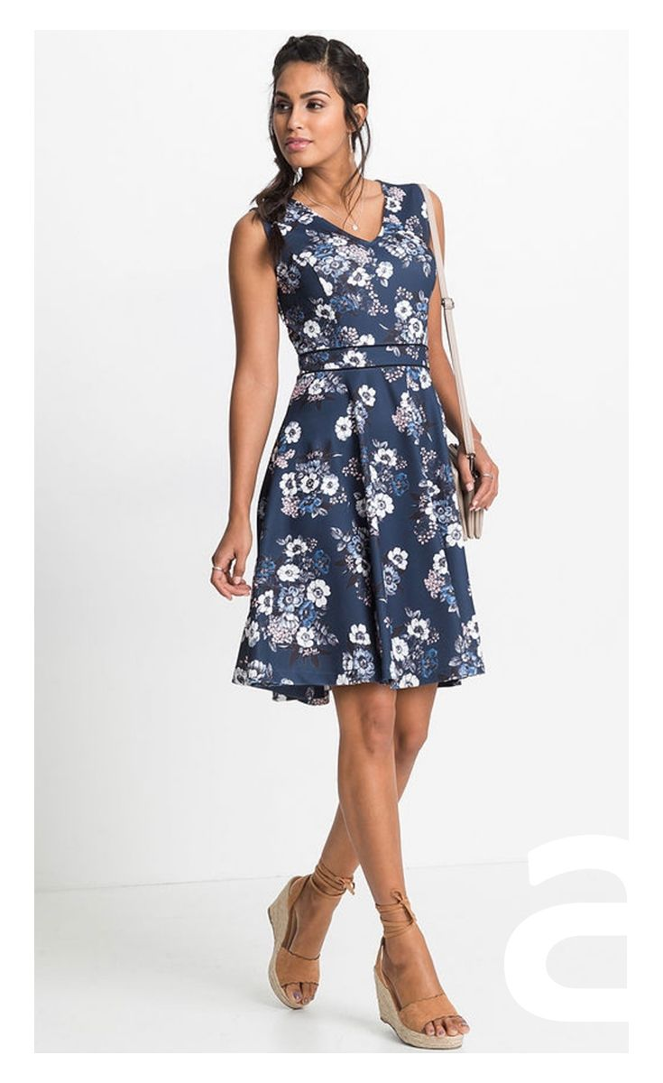 Moda Damska Sukienka W Kwiatki Elegancka Sukienka Stylizacja Dresses Fashion Halter Dress