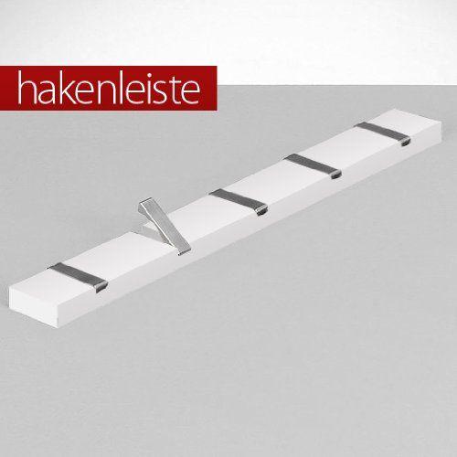 Http://ift.tt/1QQv9k7 5er Hakenleiste Weiß Alu Haken Garderobe U0026vixopi