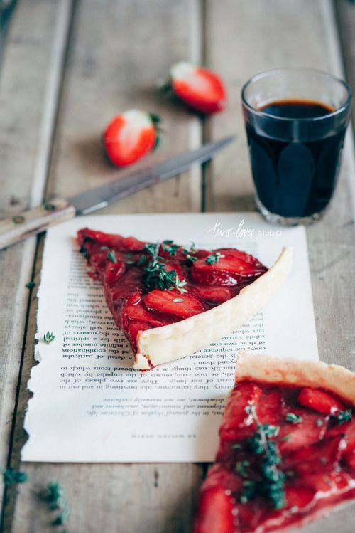 Roasted Strawberry & Thyme Tart