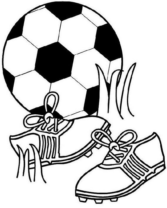 Football Kit Shoes And Ball Coloring Page Football Coloring Pages Sports Coloring Pages Cool Coloring Pages