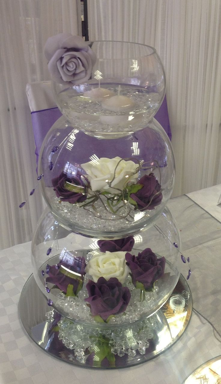 CENTERPIECES FISH BOWLS | triple fish bowl centerpieces these triple stacked fish bowls are the ...