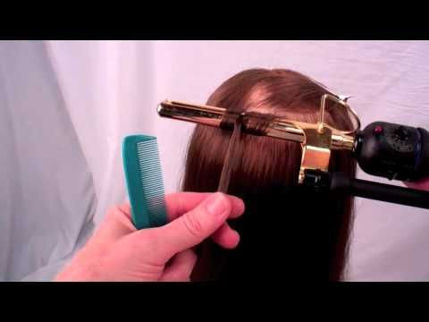 Figure 8 curling with a marcel iron (salon irons that have no springs)