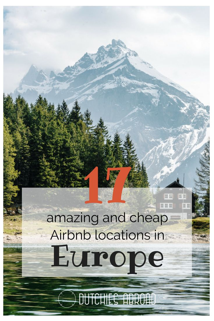 17 amazing and cheap Airbnb locations in Europe! We've compiled a list of Airbnb listings in Europe we think are stunning and don't break the bank!