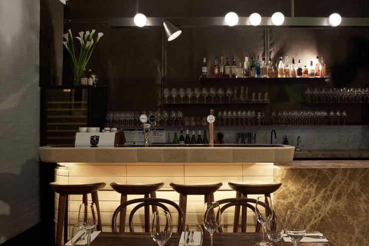 Lighting beneath bar