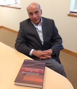 """A. Rashad Abdel-khalik, Vernon K. Zimmerman Professor of International Accountancy, has explored and developed the subject of financial derivatives for the past few years. Today, he now teaches a required course for MAS students and has just published his book, """"Accounting for Risk, Heding and Complex Contracts."""" #goillini"""