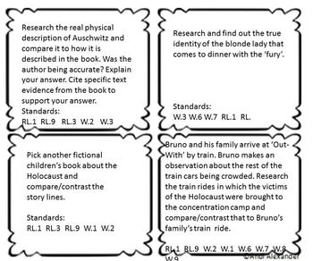 9 best the boy in the striped pyjamas images on pinterest the boy boy in the striped pajamas writing task cards ccuart Image collections