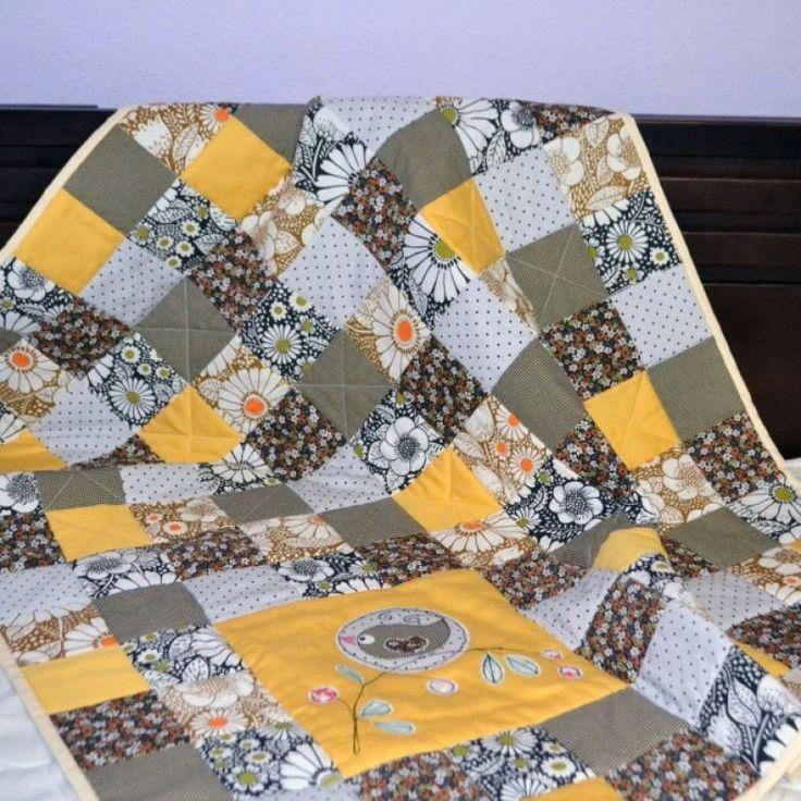 Детское лоскутное одеяло пэчворк для детской кроватки - Каталог рукоделия #61920