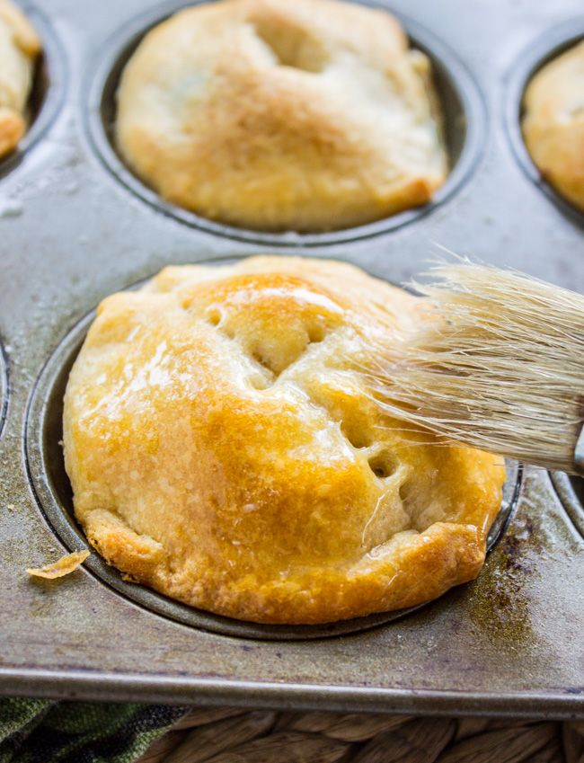 These almost-homemade chicken pot pies are the perfect finger-food for a party! Or a last-minute dinner that your kids will love.