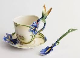 arte em chávenas de chá