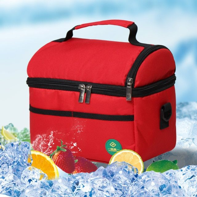 INSULATED BBQ CAMPING TRAVE PICNIC COOL COOLER ICE FOOD DRINK LUNCH BAG