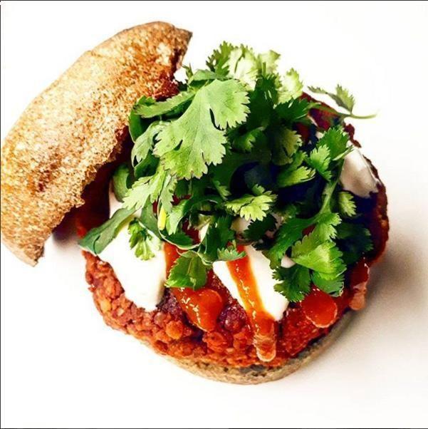 Tandoori Lentil Burger  Kissan International  Vegan  Vegetarian Healthy Spicy Lentils Burger