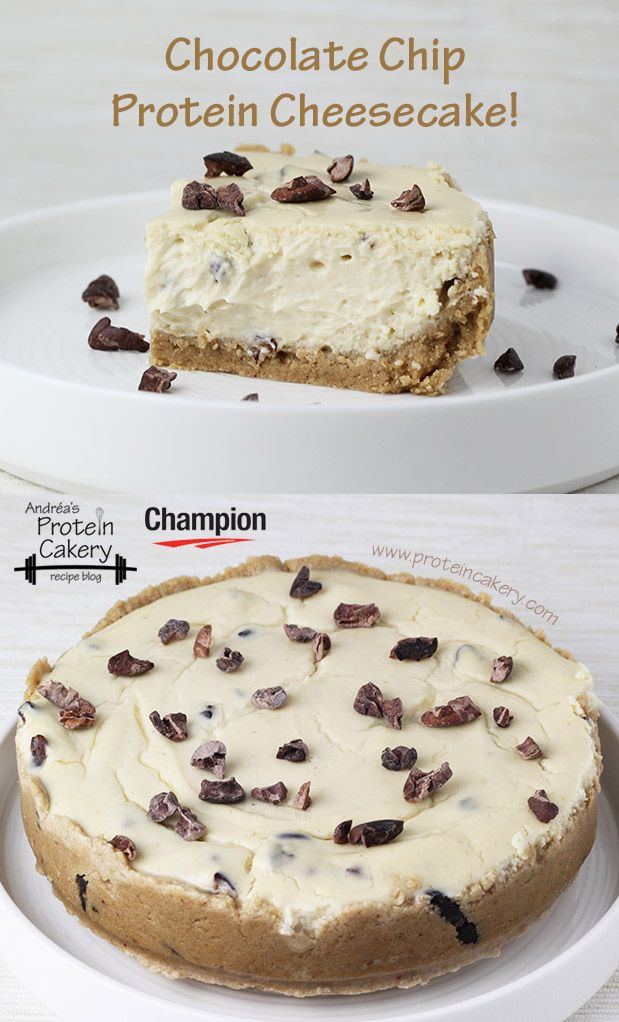 Chocolate Chip Protein Cheesecake -- Prot: 12 g, Carbs: 8 g, Fat: 14 g, Cal: 204 -- gluten free