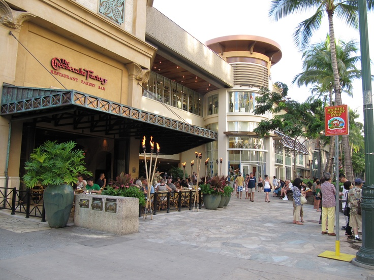 Where I feel in love with one of my favorite restaurants, The Cheesecake Factory in Waikiki.