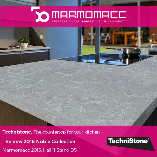 #Marmomacc 2015: Celebrating the Biggest ‎#StoneCommunity‬. Technistone. The ‪countertop‬ for your kitchen. The new 2016 Noble Collection. Learn more ►► http://www.technistone.com/