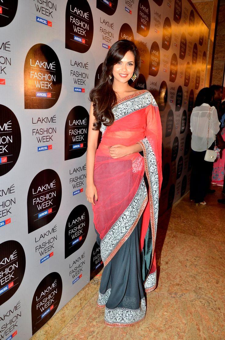 "Esha Gupta at Manish Malhotra's ""100 Years of Indian Cinema"""