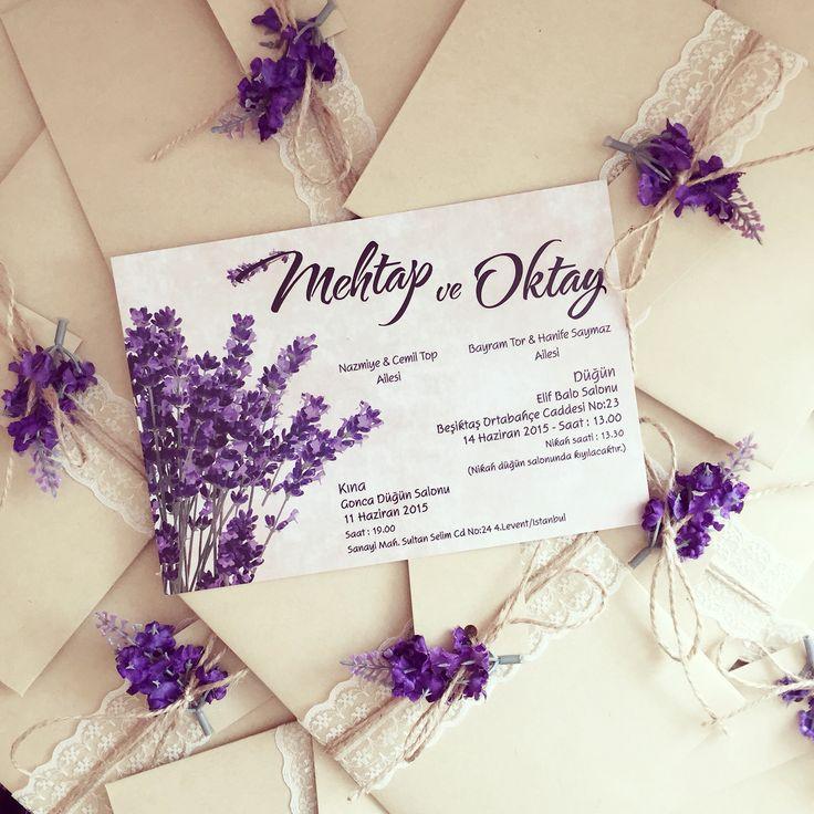 Wedding invitation / Düğün davetiyesi www.masalsiatolye.com