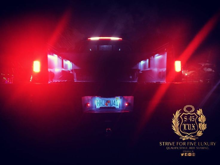 """#PrplReign. @gorecon smoke """"Cadillac"""" third brake LED truck bed rail LED rear LED lights & license plate dual LED illumination kit.  #s45lux #PrplReign #uber #lyft #limo #305 #miami #miamilife #miaminights #miamibeach #southbeach #sobe #wynwood #wynwoodmiami #ford #fordtrucks #powerstroke #diesel #liftedtrucks #boat #country #tailgate"""