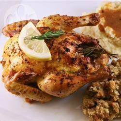 Poussin with Garlic and Rosemary @ allrecipes.co.uk (Simple and tasty)