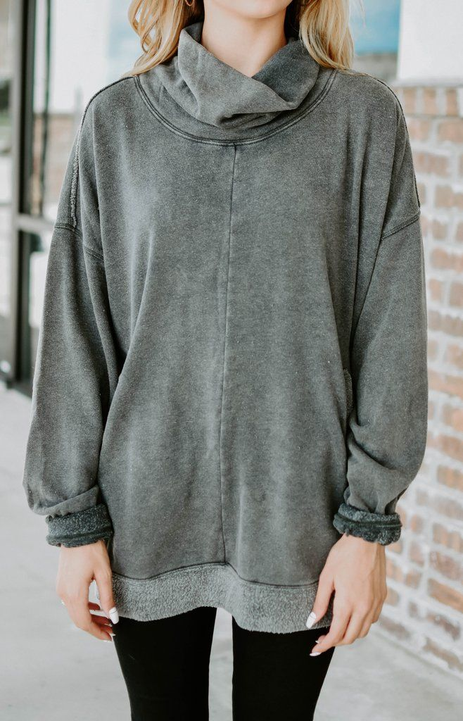 Free People  Too Easy Tunic Sweatshirt - Gray  f3afe31c0