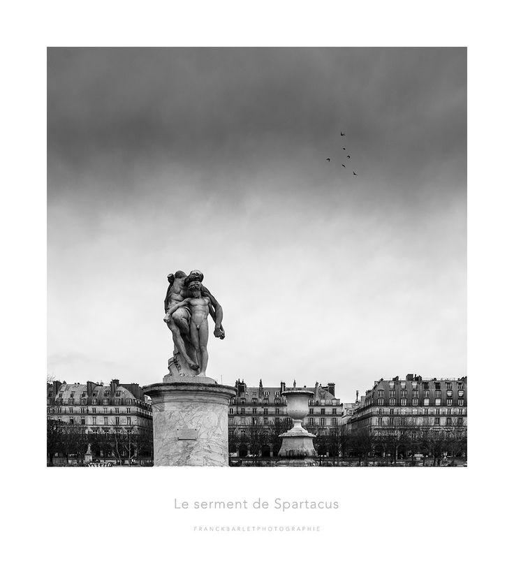 Le serment de Spartacus - Le serment de Spartacus est une statues que l'on peut voir aux jardin des tuileries à Paris. J'ai eu comme une envie de refaire de la photo classique.