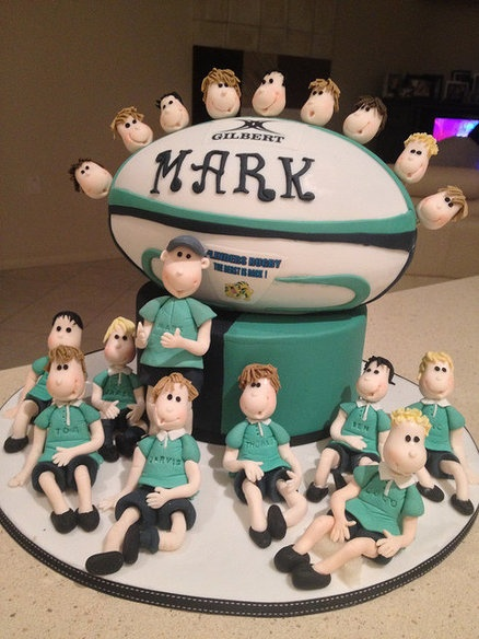 Cake Decorating Course Rugby : 17+ images about Rugby Cake Ideas on Pinterest Cakes ...