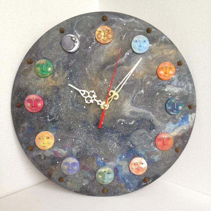 Realistic Universe Clocks for perfect home decor / Unique wall clocks / Wall clocks / Universe art / Planets / Unusual wall Clocks / Gifts by DOSHE on Etsy