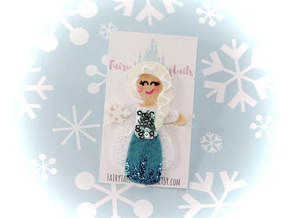 ELSA Frozen Inspired Hair Clip or Pin  FAIRYTALE PONYTAIL