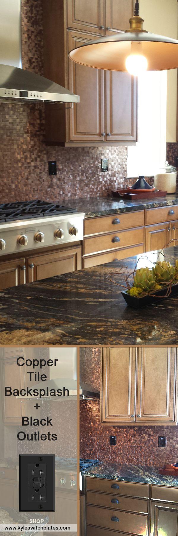 Best 25 copper tile backsplash ideas on pinterest copper copper tile backsplash black switch plates dailygadgetfo Image collections